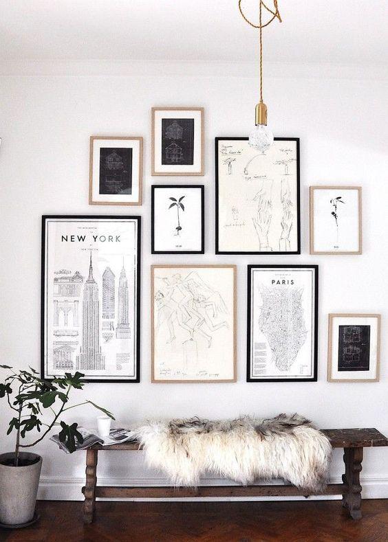 25 Уникальных идей создания настенной галереи