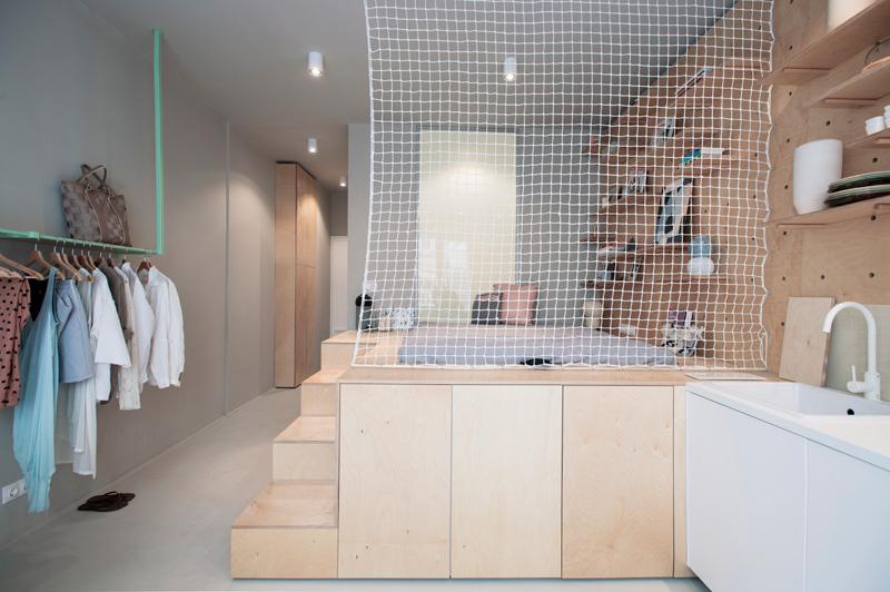 Эко-студия 30 кв. метров в Будапеште