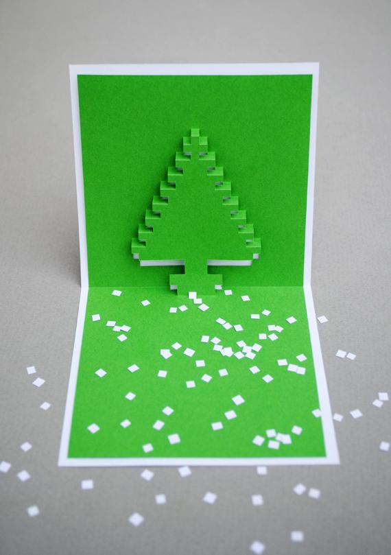 Объемная елочка из бумаги {Оригами}