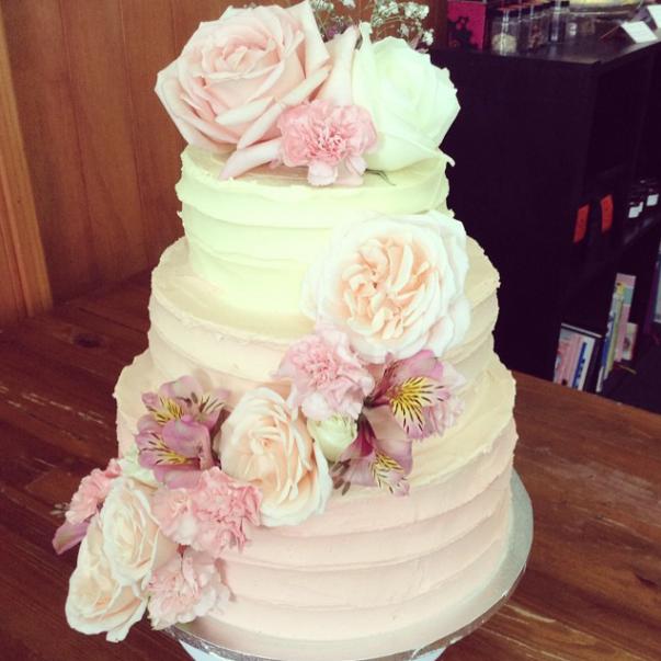 45 Свадебных тортов в стиле Омбре