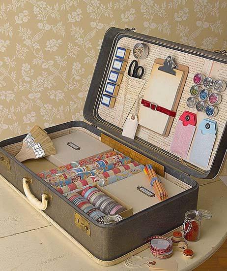 Повторное использование старых чемоданов