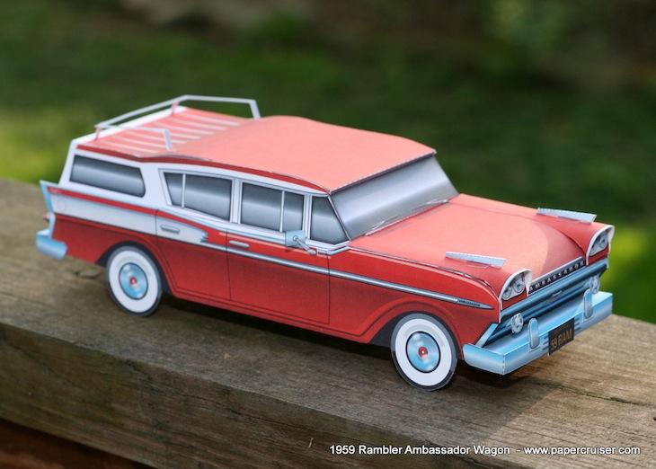 Бумажная модель автомобиля: Rambler Ambassador {PDF}