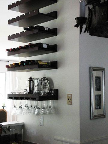Хранение вина в интерьере. ТОП 20 Идей