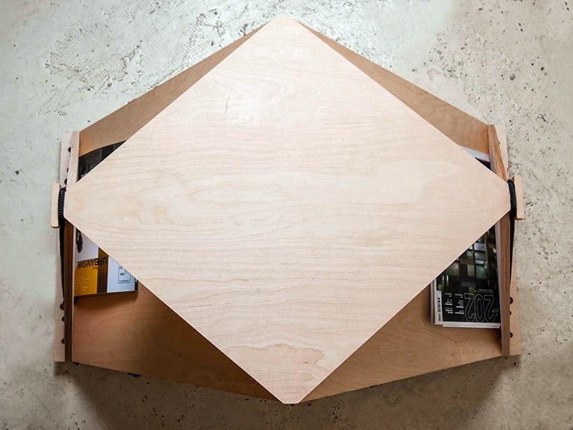 Компактный столик из фанеры
