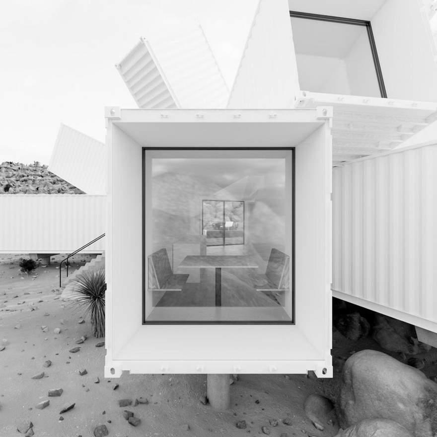 Цветок пустыни - дом из морских контейнеров, который завораживает своим интерьером