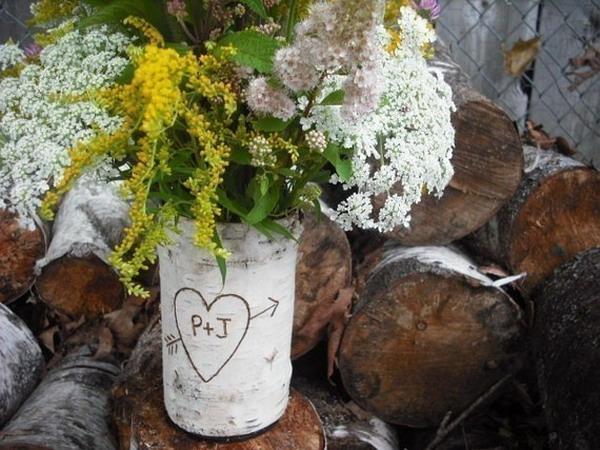 Декор с коры дерева