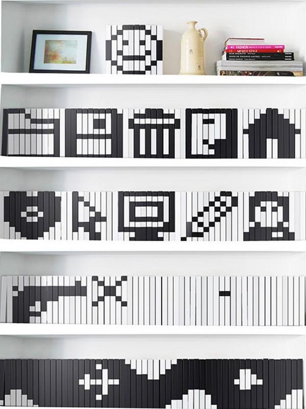 Как сделать декор полки с помощью обложек для книг, интересный мастер - класс