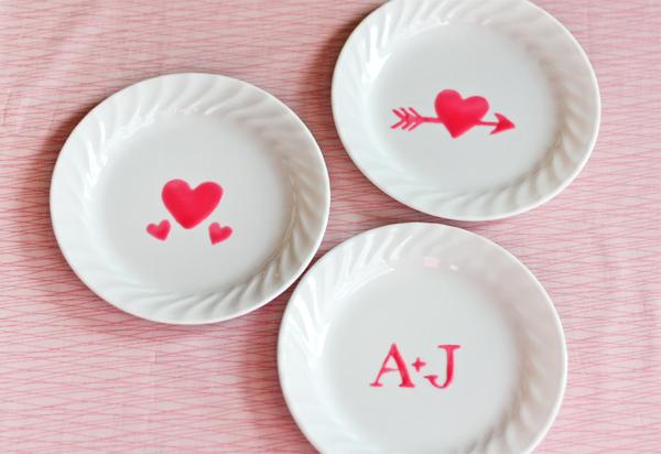 Съедобный декор посуды ко Дню Святого Валентина