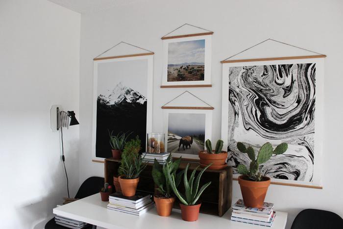 Простая деревянная рамка для постеров и плакатов