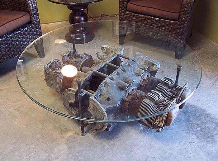 Мебель из частей самолета