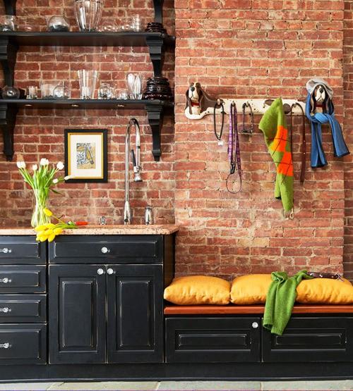 Современные и стильные интерьеры с кирпичными стенами, 60 Идей