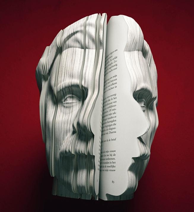 3D Портрет из книг