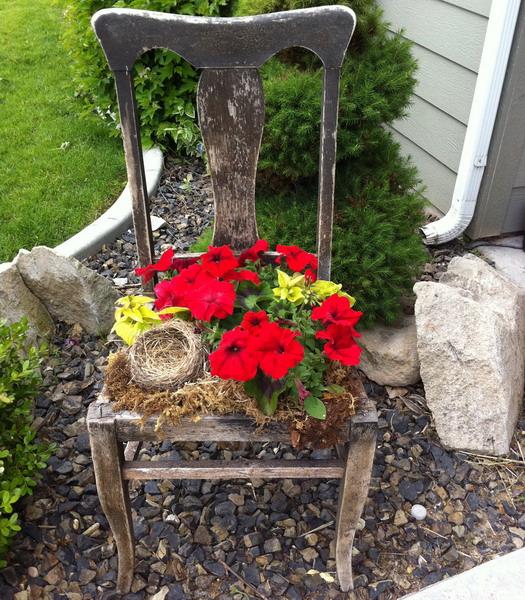 50 Идей клумб из старых стульев