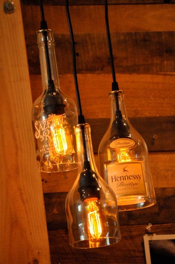 Лампы из использованных бутылок. ТОП 23
