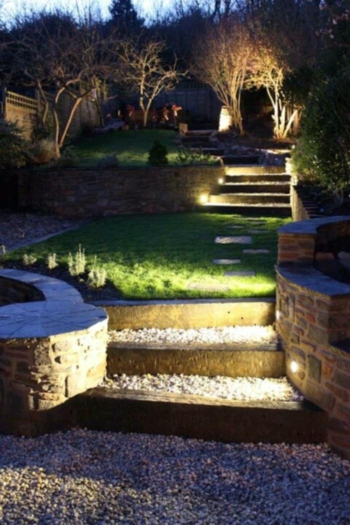 Лестницы и ступеньки в саду