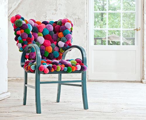 Мебель из помпонов