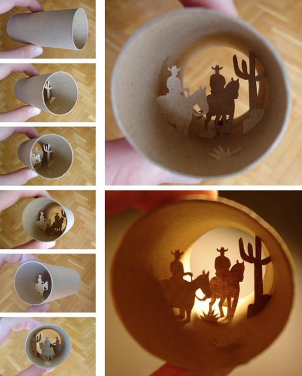 Миниатюрный мир в рулоне туалетной бумаги