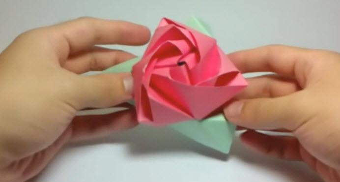 Оригами - Трансформация розы