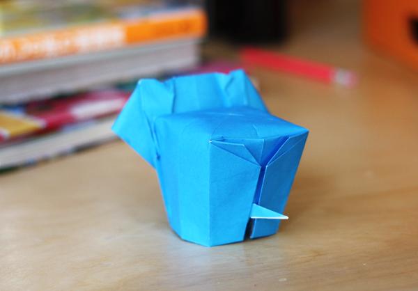 Слоник из бумаги {Оригами}