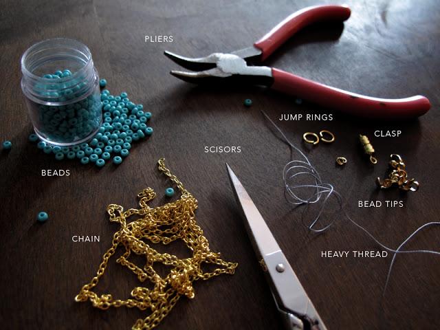 Плетеное ожерелье своими руками