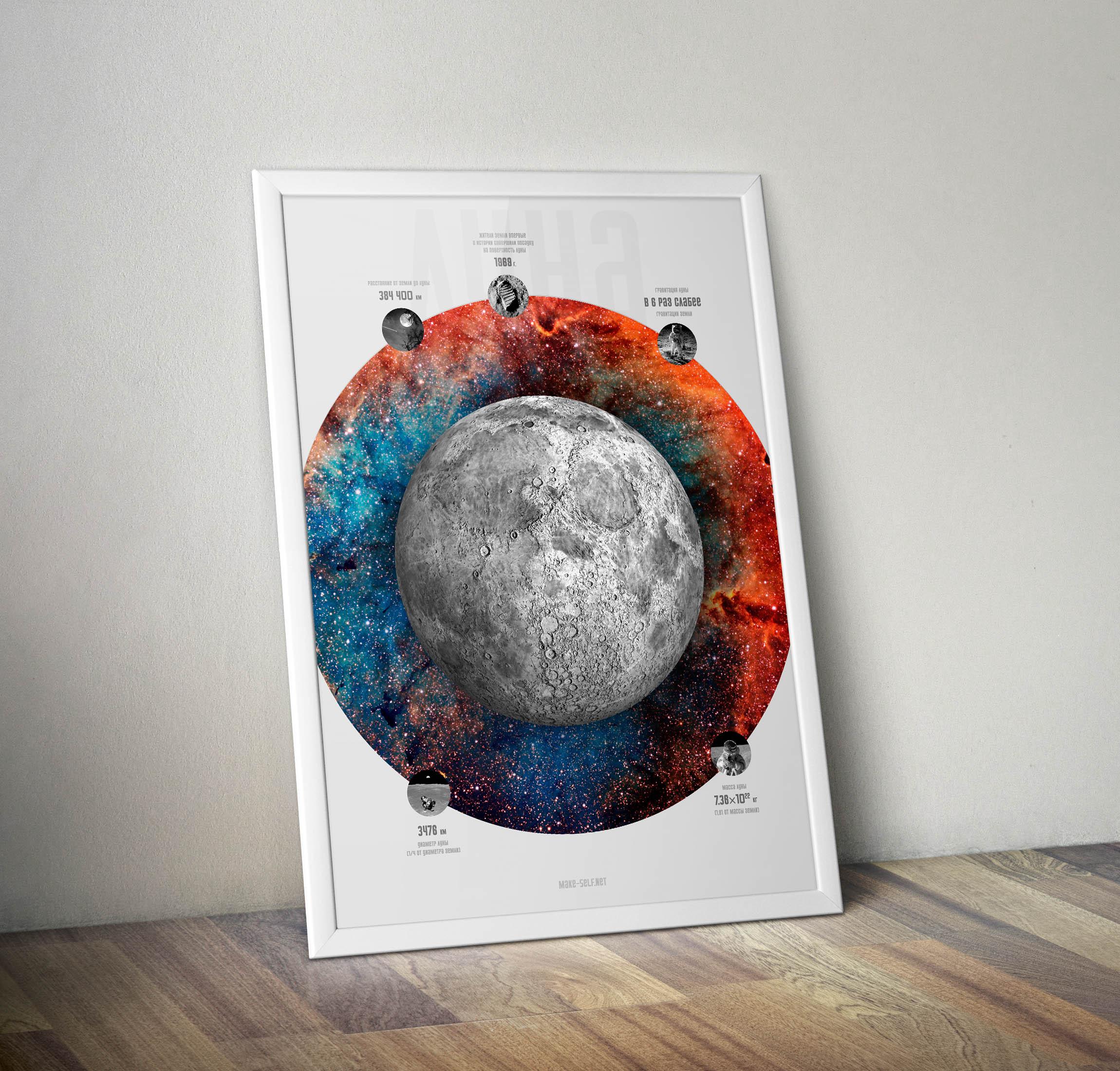 Скачать бесплатно постер Луны