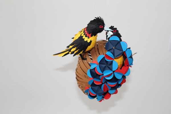 Прекрасные птицы из бумаги {Оригами}