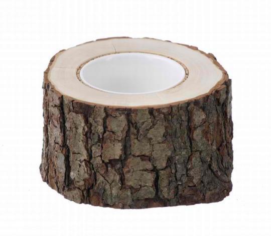 Ваза из древесного ствола