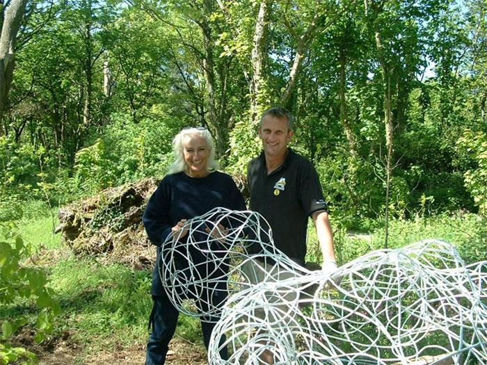 Живая скульптура в затерянных садах Хелигана меняет свой внешний вид в зависимости от сезона