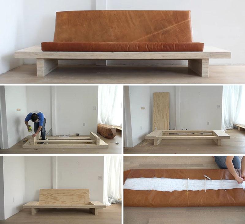 Как сделать диван из фанеры