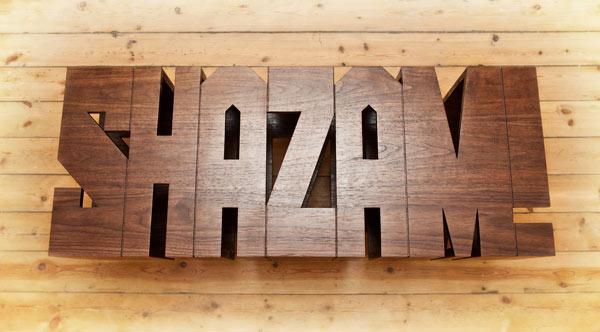 Типографический журнальный столик