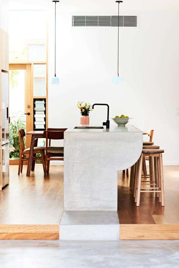 15 Идей использования бетона на кухне