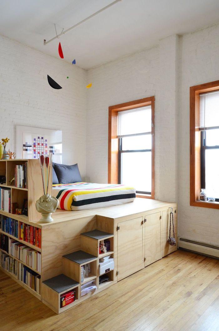26 Примеров умной кровати с местом для хранения