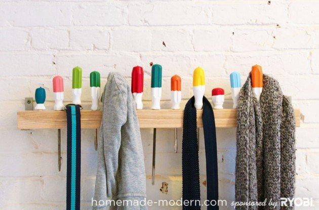 Уникальные вешалки ручной работы. 22 Идеи
