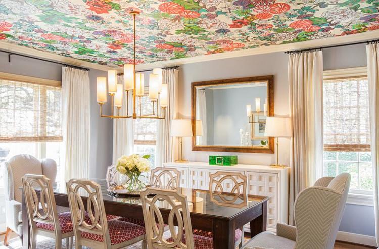 ТОП 25 «Яркие» потолки для оригинального интерьера