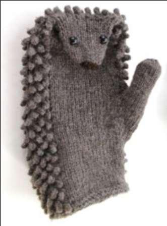 Зимние рукавицы - Ёжик